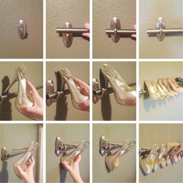 34. Wall-Mounted Shoe Rack
