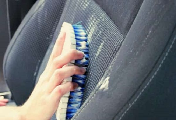 37. Use shampoo to clean upholstery