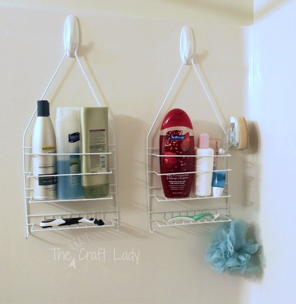 39. Dual Shower Caddies