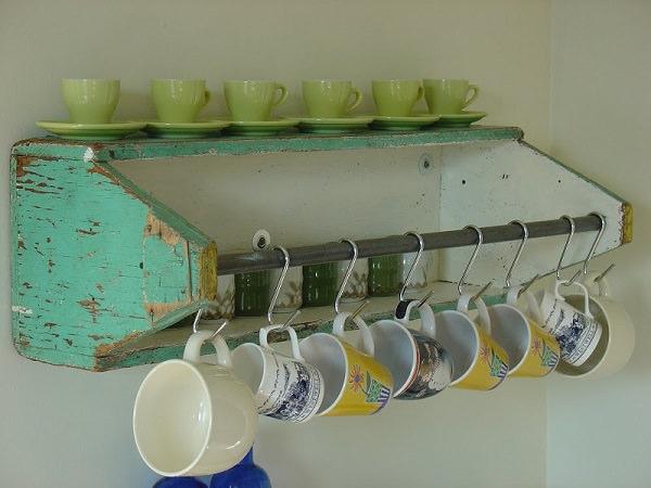4. Caryall Coffee Mug Shelf
