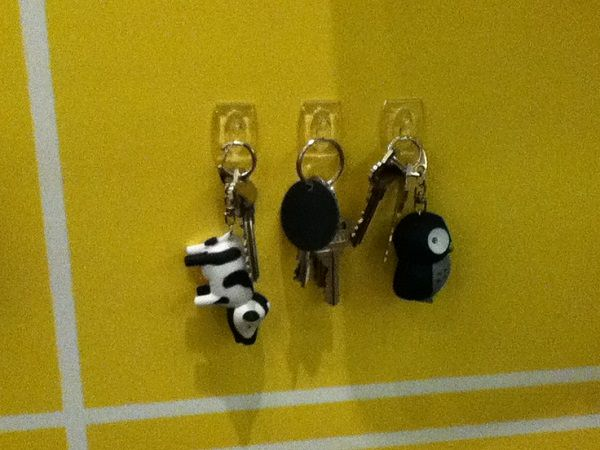 4. Hang your keys up by the door