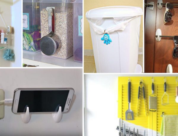 40 Ingenious DIY Command Hook hacks for Home and Garden3