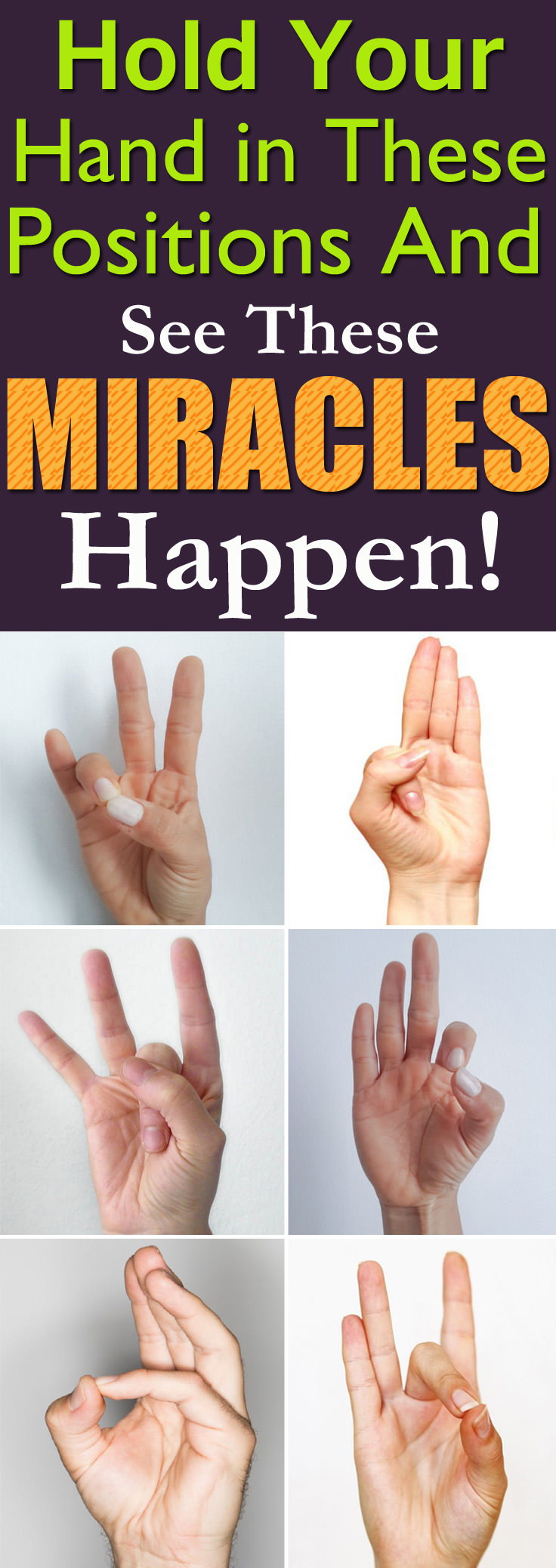 Start practicing one of these 6 Amazing Hand Mudras (poses) in Yoga and find miraculous improvement in your health!