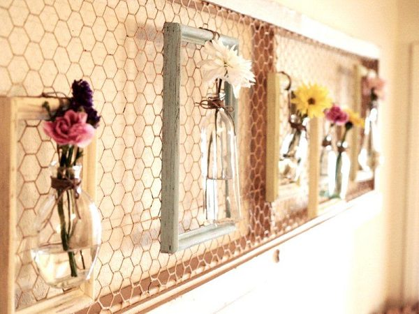 Charming Chicken Wire DIY Craft Ideas25