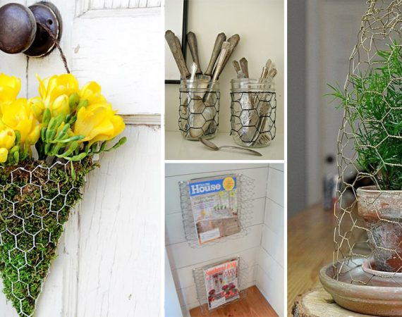 30 Charming Chicken Wire DIY Craft Ideas3