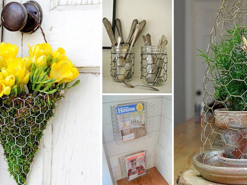 30 Charming Chicken Wire DIY Craft Ideas3