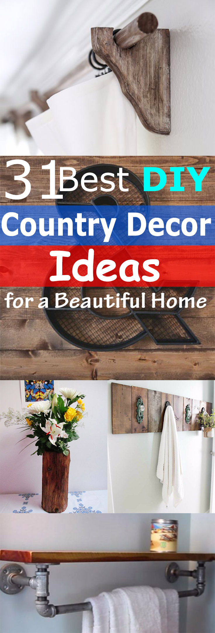 Even if you live in a city, you can recreate a charm of beautiful and rustic country home with these 31 Best DIY Country Decor Ideas here!