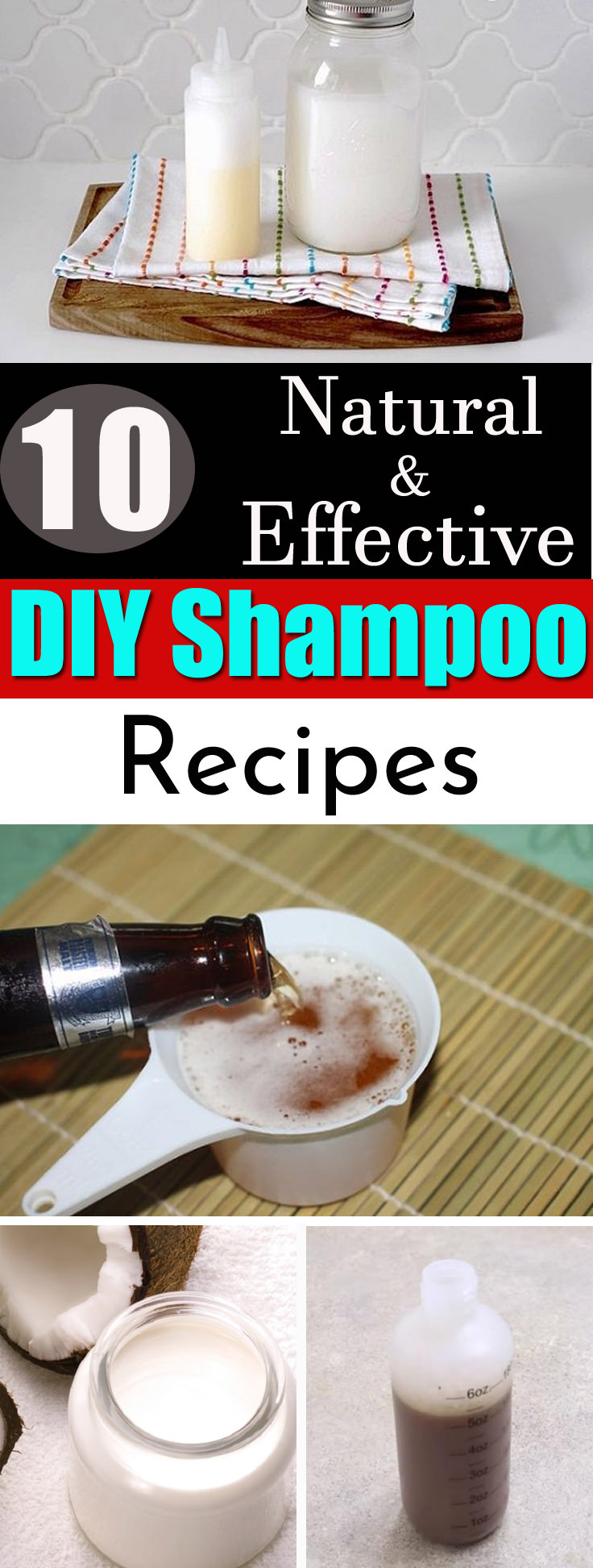 Try one of these Organic, Homemade Shampoo Recipes to bring back the natural shine and luster of your hair! Unlike the commercial shampoos, these are chemical free and doesn't leave any toxic effect on your hair.