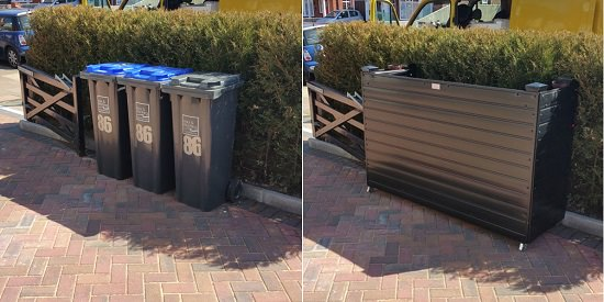 Amazing ideas to hide trash cans without compromising the look of the surrounding.
