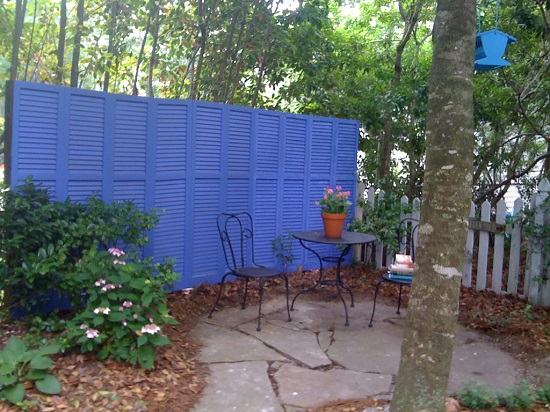 Repurposed Shutter Fence