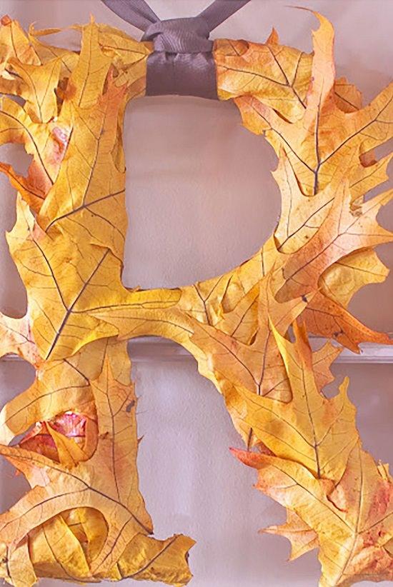 Leaf Foilage Monogram Letter
