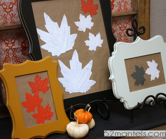 Fall Leaf Frame Art