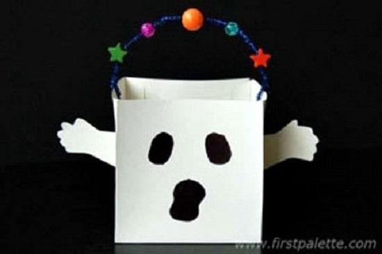 Ghost Trick-or-Treat Bag