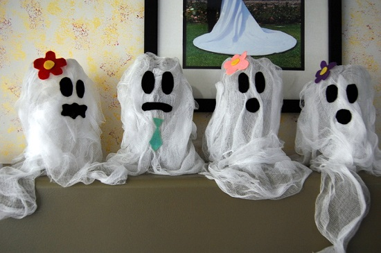 Recycled Soda Bottle Ghosts