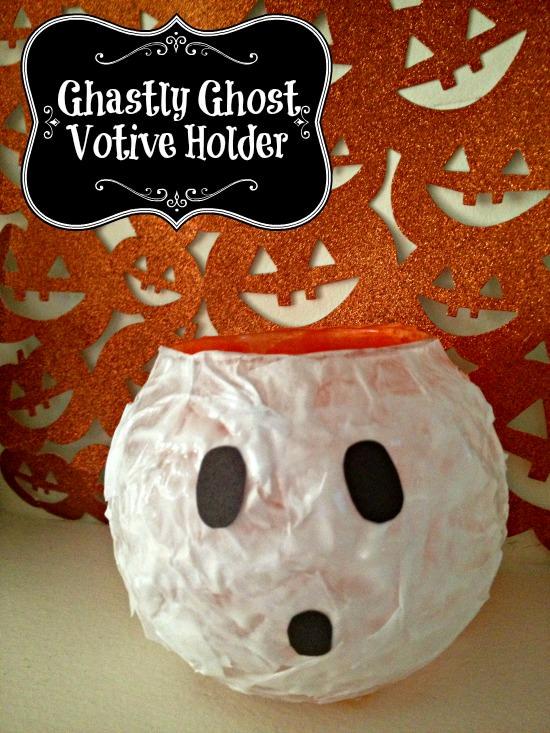 DIY Ghastly Ghost Votive Holder