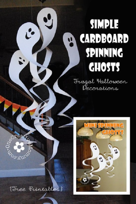 Cardboard Spinning Ghosts