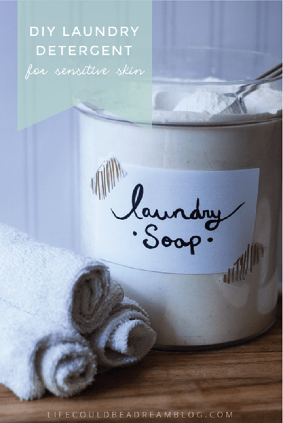 sensitive skin detergent recipe