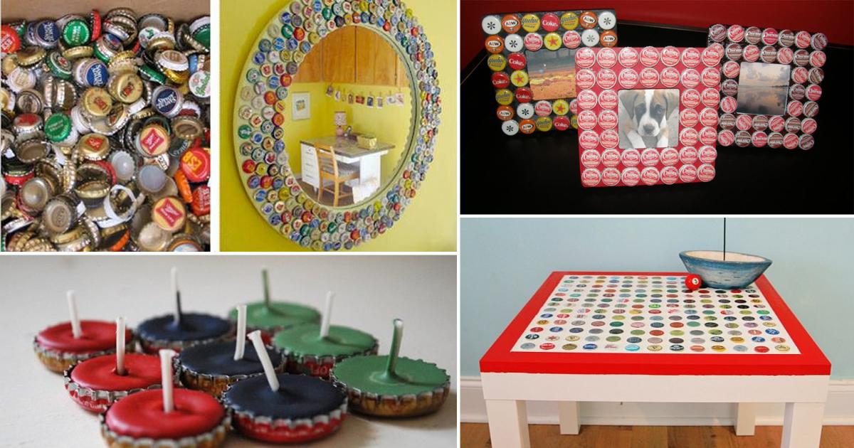 26 Cool Things To Do With Bottle Caps Diy Bottle Cap Crafts