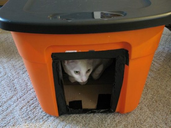 diy cat house ideas14