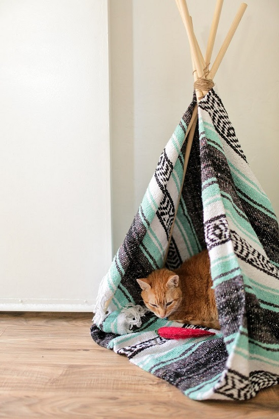 diy cat house ideas13