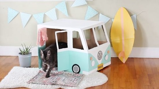diy cat house ideas 10