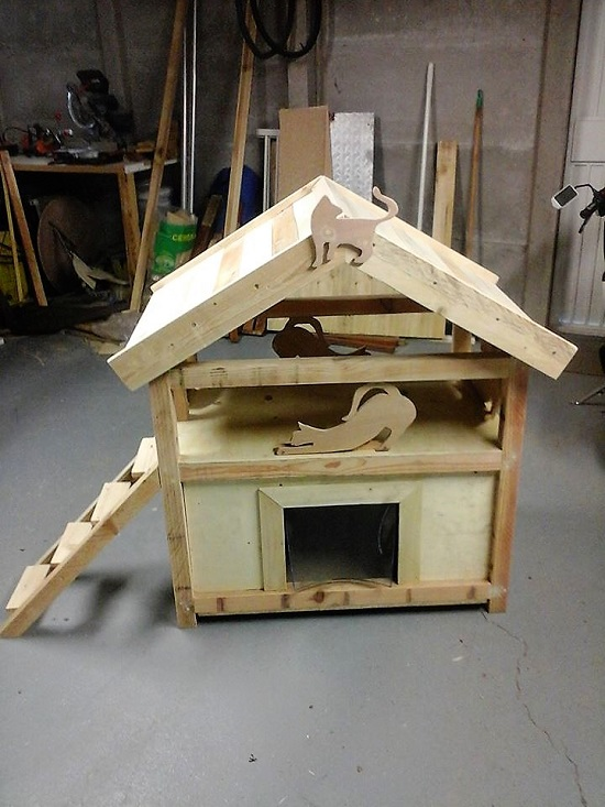 diy cat house ideas7