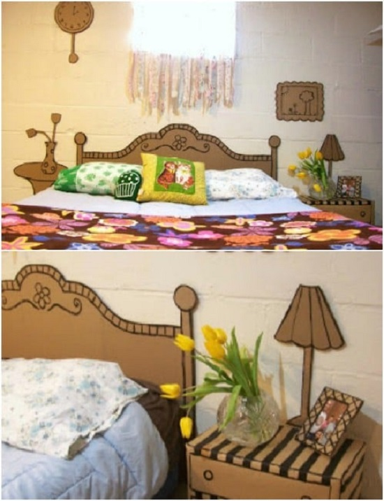 room decor ideas with cardboard 3