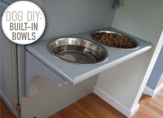 DIY Dog Feeding Station 13