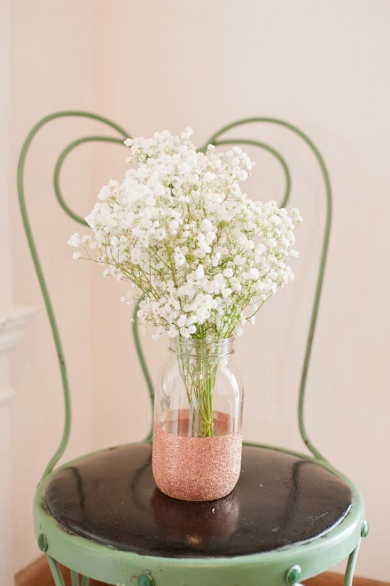 All of these Homemade DIY Glitter Vases are made by upcycling simple everyday objects available in every home.