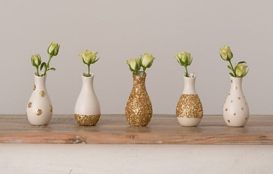 18 DIY Glitter Vases in easy steps