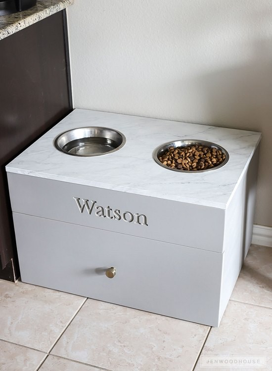 DIY Dog Feeding Station 16