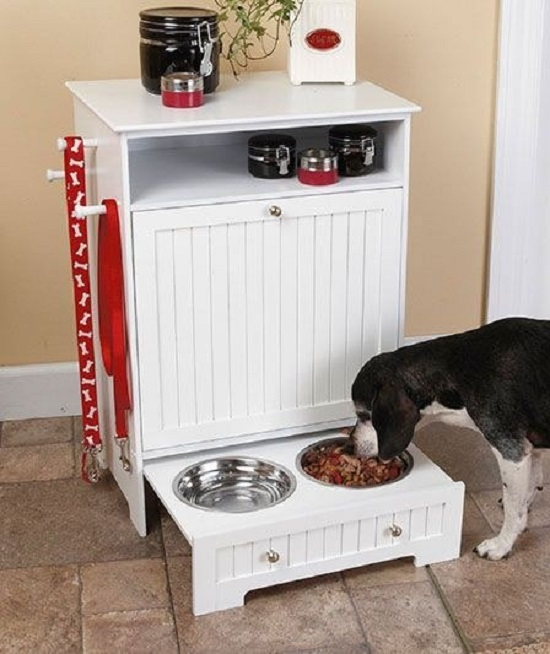 DIY Dog Feeding Station 11