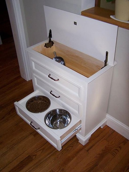 DIY Dog Feeding Station 18