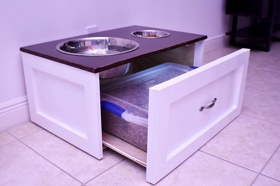 DIY Dog Feeding Station 14
