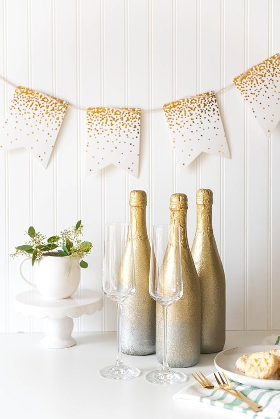 DIY Gift Champagne Bottles