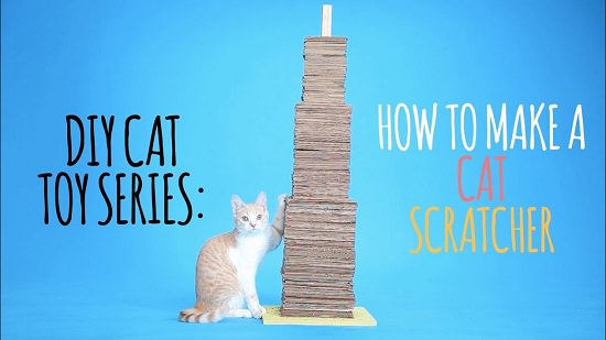 DIY Cardboard Cat Scratcher 4