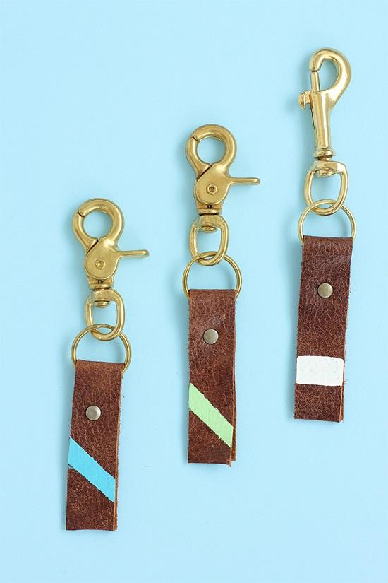 DIY Leather Key chain9