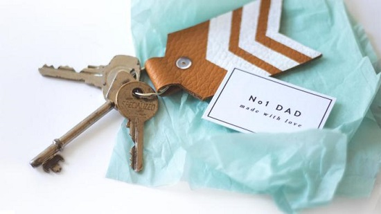 DIY Leather Key chain10