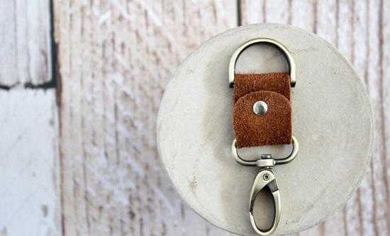 DIY Leather Key chain13