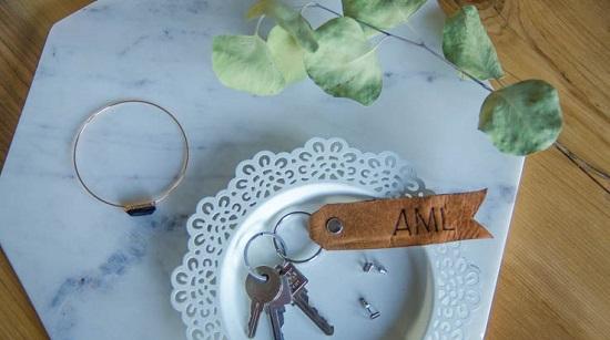 DIY Leather Key chain15