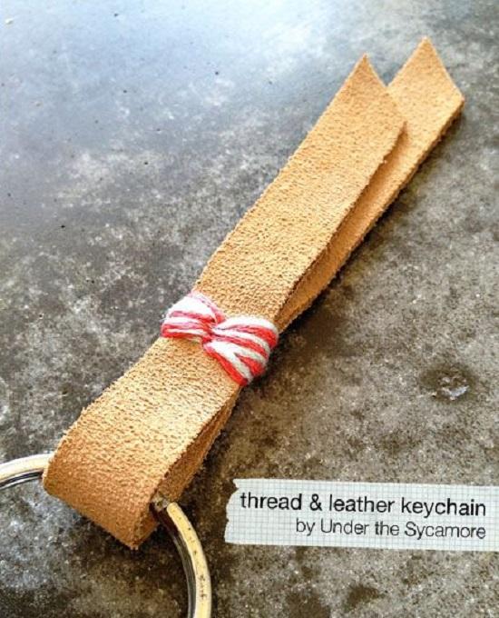 DIY Leather Key chain18