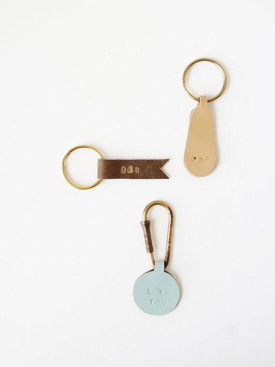 DIY Leather Key chain5