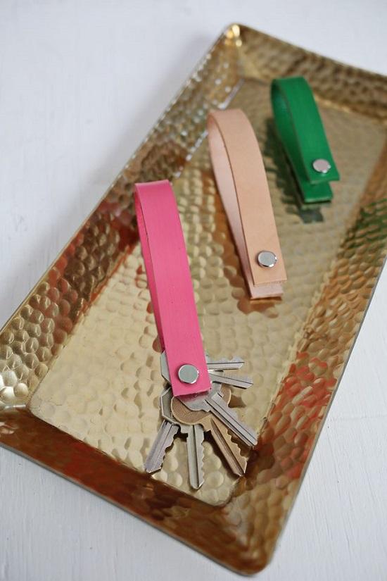 DIY Leather Key chain6