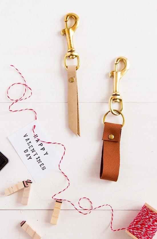 DIY Leather Key chain8