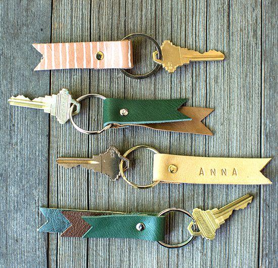 DIY Leather Key chain1