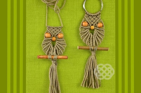 DIY Macrame key Chain Ideas 17