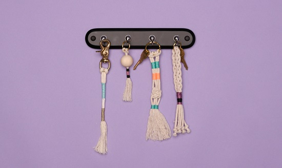 DIY Macrame key Chain Ideas 3