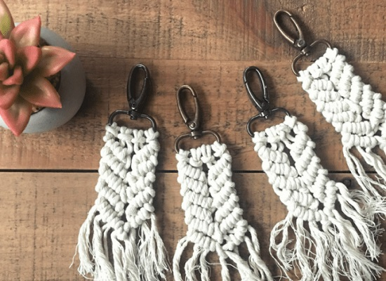 DIY Macrame key Chain Ideas 5