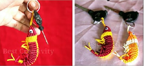 DIY Macrame key Chain Ideas 19