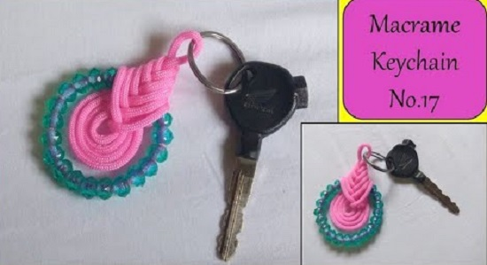 DIY Macrame key Chain Ideas 21